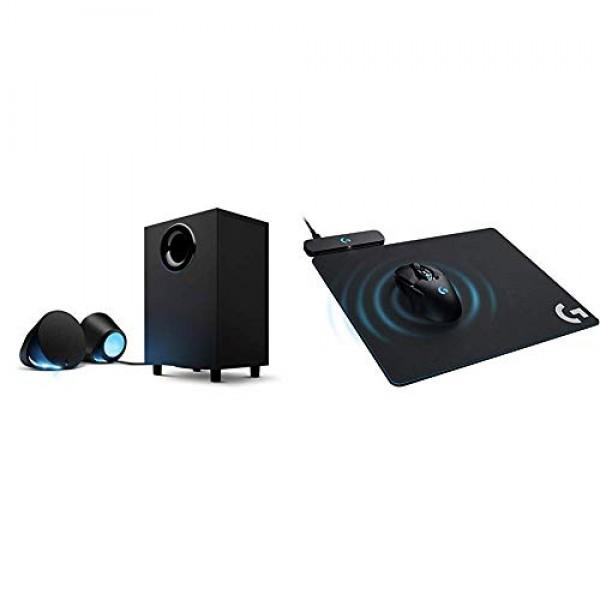 Logitech G560 LIGHTSYNC PC 게임 스피커 게임 구동 RGB 조명 및 G Powerplay 무선 충전 시스템 G703 G