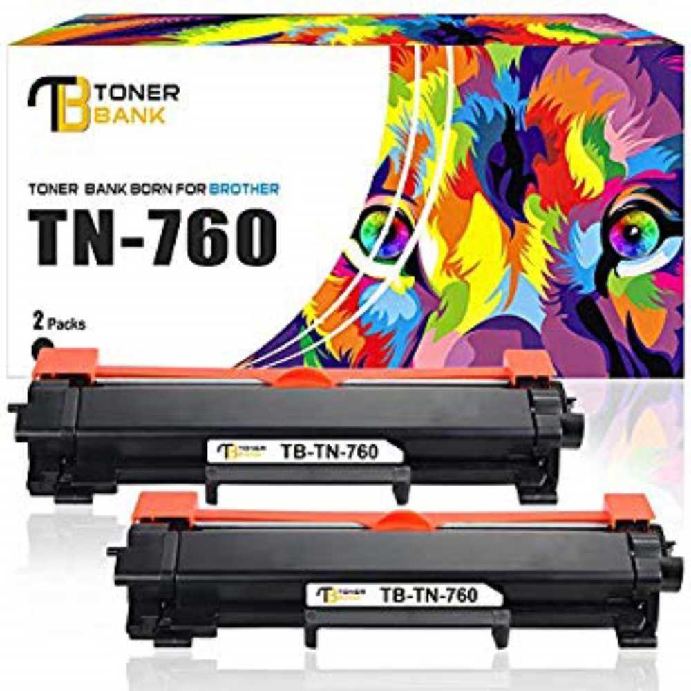Toner Bank Compatible Toner Cartridge Replacement for Brother TN760 TN 760 TN730 HL-l2370dw MFC-l2710dw HL-l2350dw DCP-l, 1, 단일상품