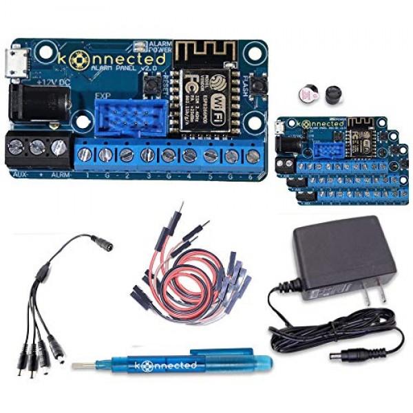Konnected 알람 패널 유선 알람 시스템 개조 키트-모든 유선 알람 시스템을 스마트하게 만들기-월 요금 없음-SmartThings Hom, 단일상품
