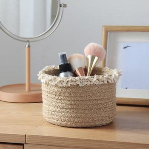화장대선반 브러쉬보관함 화장품정리함 수납 숙소 가정용 침대 머리 받침 바구니 황마테잎, 03 옐로우마색(키높이+하이)