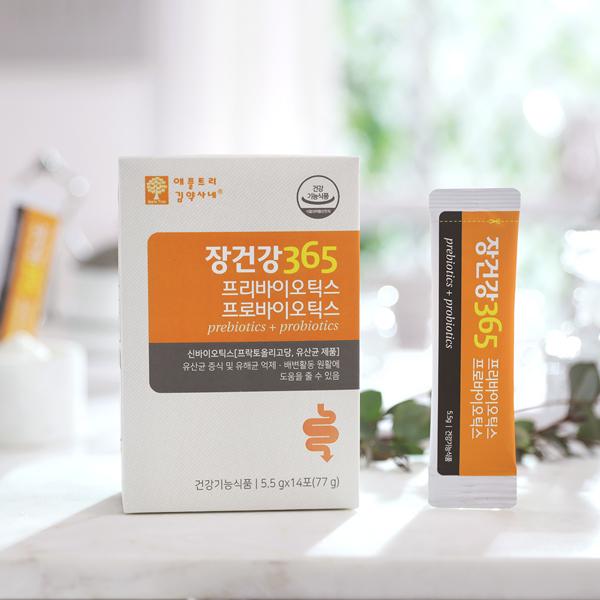 애플트리김약사네 장건강365 프로바이오틱스유산균 가루 프리바이오틱스유산균 락토바실러스가제리 장건강프리바이오틱스 프락토올리고당장건강 여성유산균 모유성분유산균, 14포, 5.5g