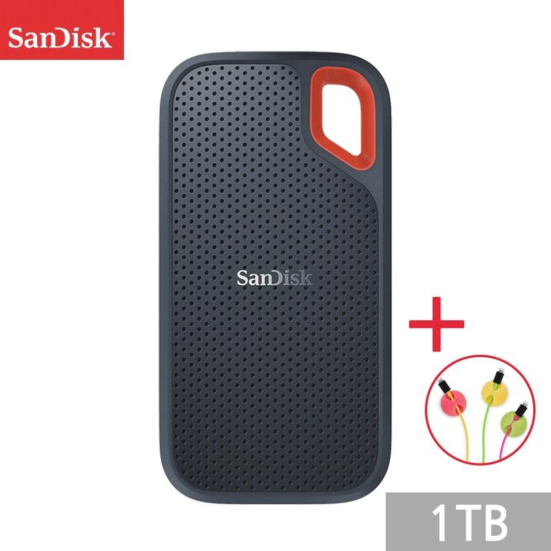 샌디스크 외장 익스트림 포터블 E60 SSD + 사은품, 1TB, SDSSDE60