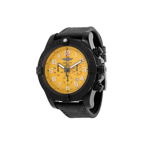 Breitling Chronograph Automatic Chronometer Cobra Yellow Dial Men's Watch