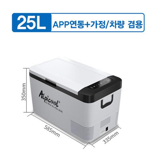 Alpicool 알피쿨 차량 가정 겸용 미니 냉장고 K시리즈18L 25L, APP연동+차량/가정 겸용 K-25L