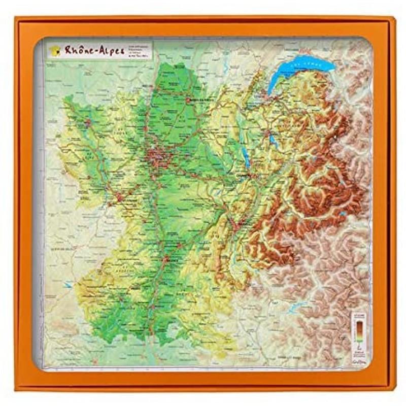 3D 맵 론 알프 지방 UR103MP