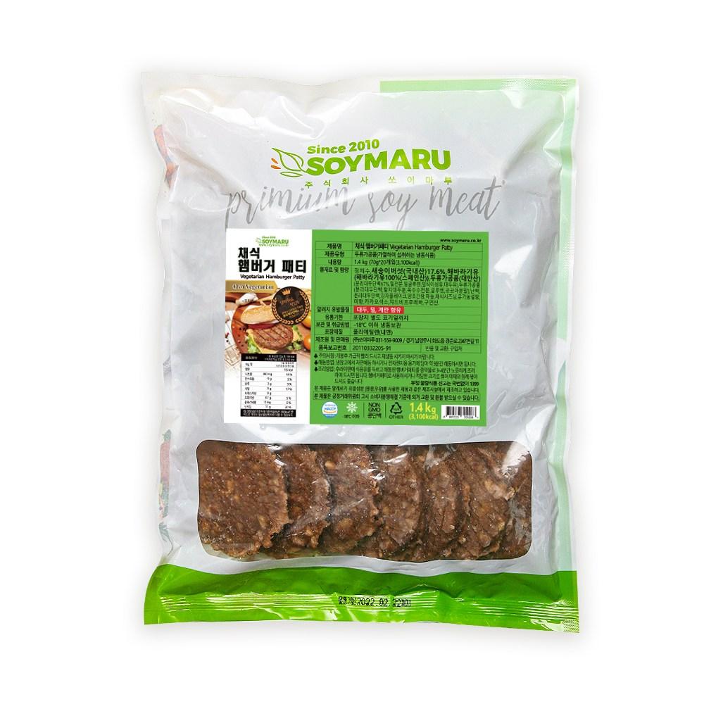 쏘이마루 채식햄버거패티, 1봉, 1.4kg