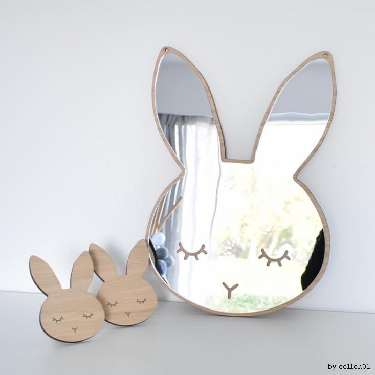 . 아크릴 안전 토끼 아기거울 아기방 꾸미기