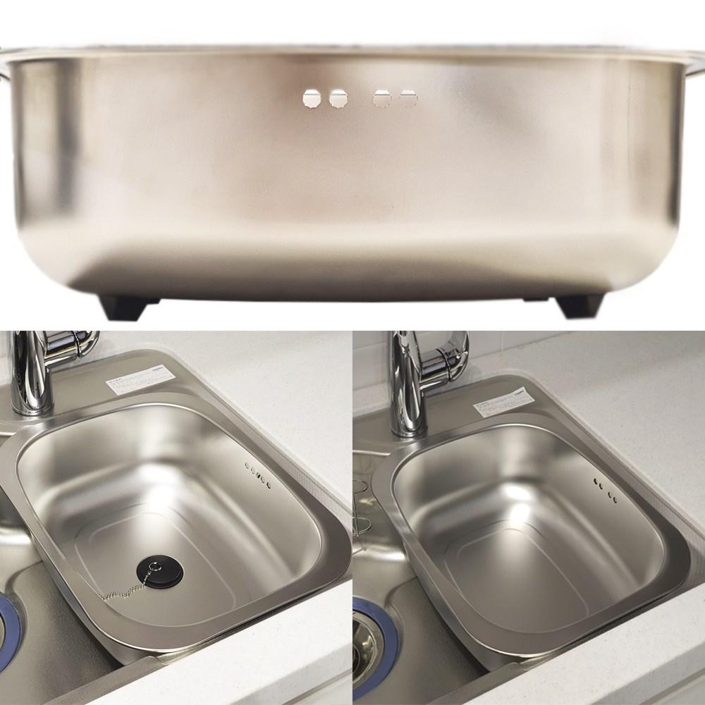 원앙 스텐레스 설거지통 무배수구/배수구형 설겆이통, 일반형 설거지통