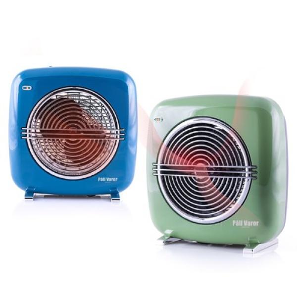 라온하우스 [Pall Varor] 폴바롤 에어스펠 전기온풍기 블루 / 전기식 탁상용 2단온도 안전장치 송풍기능, 691837