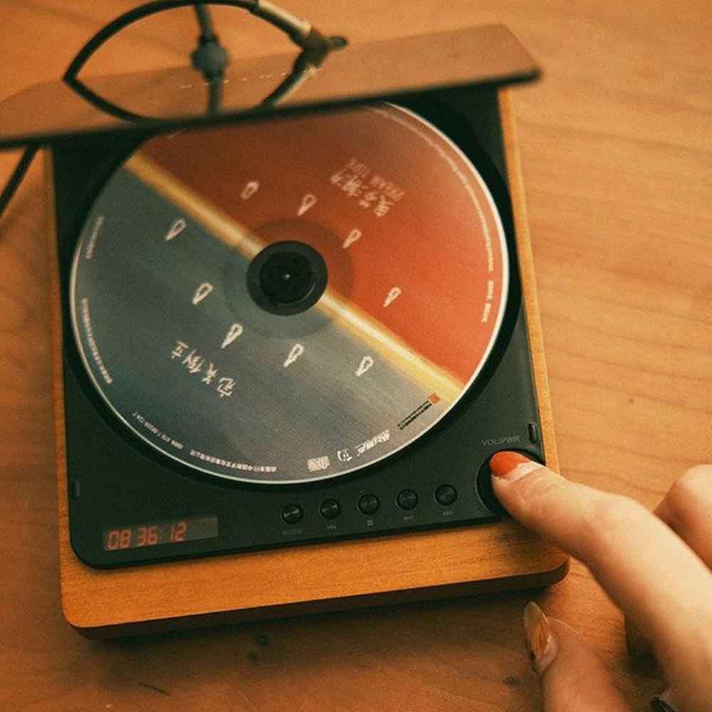 레트로 빈티지 CD플레이어 블루투스 어학용 휴대용 CD플레이어 (POP 5297279754)