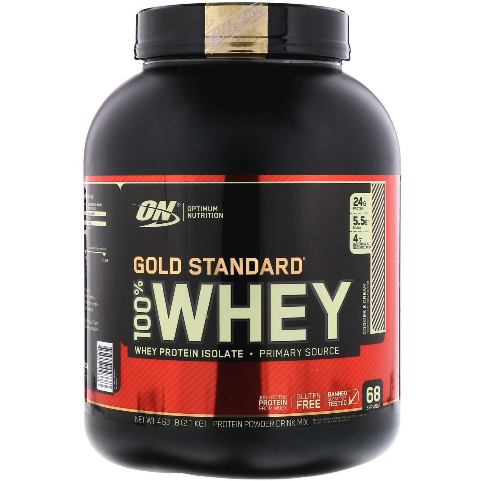 옵티멀뉴트리션 골드스탠다드 100% 유청 쿠키앤크림 2.1kg 단백질, 1개, -