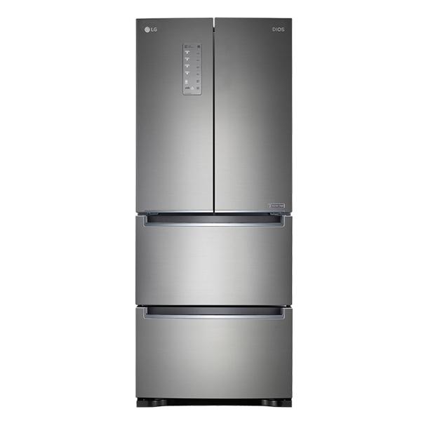 LG전자 LG 디오스 4도어 스탠드형 김치냉장고 402L K414S11, 단일상품