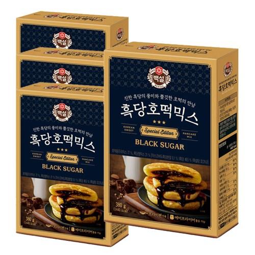 따끈따끈한 겨울간식~ CJ 백설 찹쌀호떡믹스, 4개, 400g