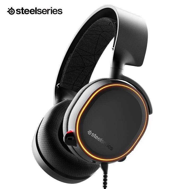 스틸 시리즈 SteelSeries Arctis 5 2019년 유선 헤드셋 RGB 블랙, 스틸 SteelSeries Arctis 5 2019년