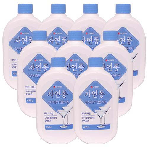 자연퐁 식기 세척기(파우더타입)전용 세제 450g, 9개
