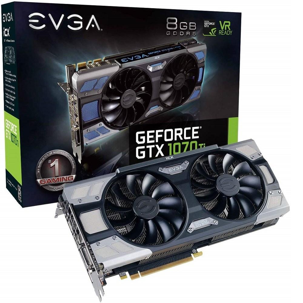 EVGA GeForce GTX 1070 Ti FTW 2 GAMMING 8GB GDDR5 (08G-P4-6775-KR) 그래픽카드, 08G-P4-6775-KR