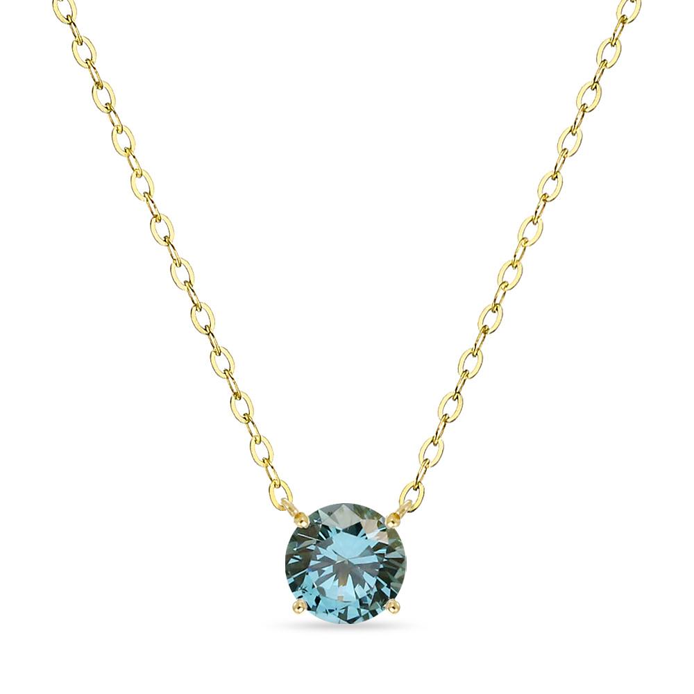 18K 목걸이 1캐럿 런던 블루 토파즈 골드 데일리 여친 선물 gold necklace_NQDM8110