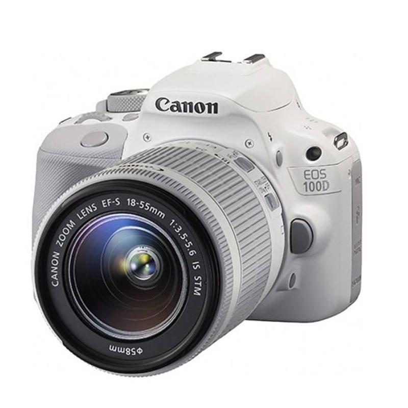 캐논 DSLR 카메라 USED EOS100D 18-55 디지털 SLR 13, 하얀, 18-55STM 렌즈 사용