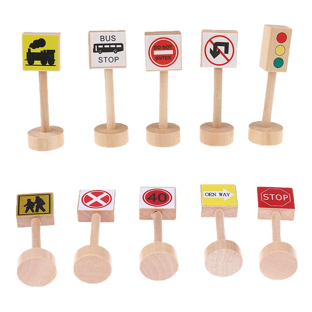 JC 교통 표지판 다른 색상 아이 어린이 놀이 나무 장난감 세트 선물을 배울, As Described