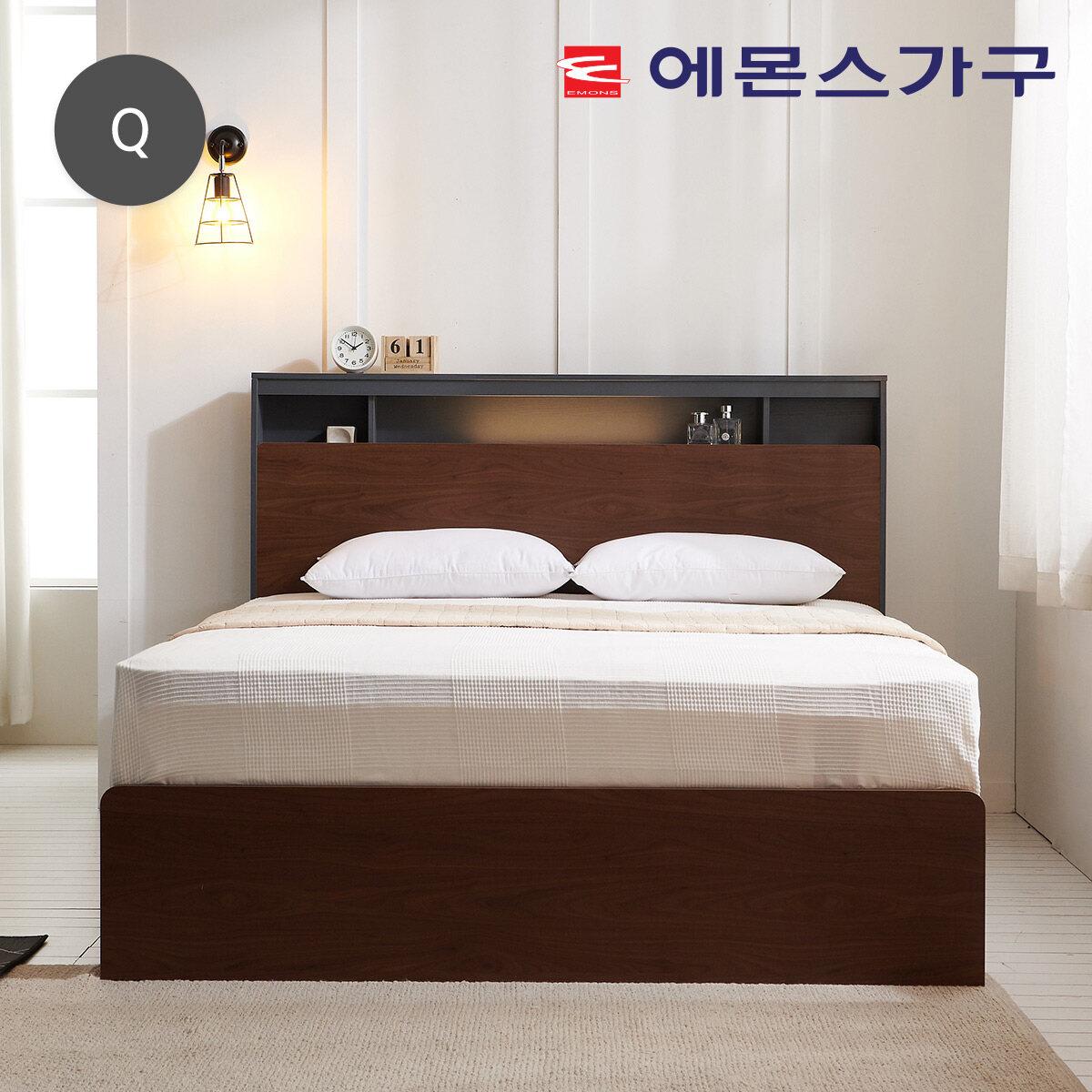 [신세계TV쇼핑](토퍼증정)에몬스 가베타 수납LED 침대 Q퀸, 단일상품
