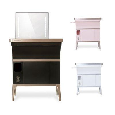 메이블 스마트메이크업테이블 화장품냉장고 거울 화장대, 핑크