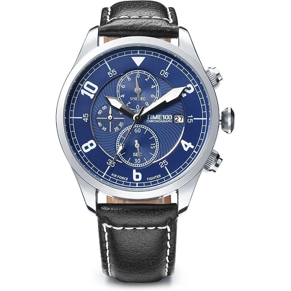 TIME100 세와 Time100 남성 패션 쿼츠 시계 다기능 비즈 및 레저 시계 하위 크로노 그래프 일정 및 정품