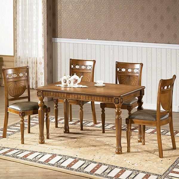 카오스 엔틱 4인용식탁세트 테이블 의자형, 단품