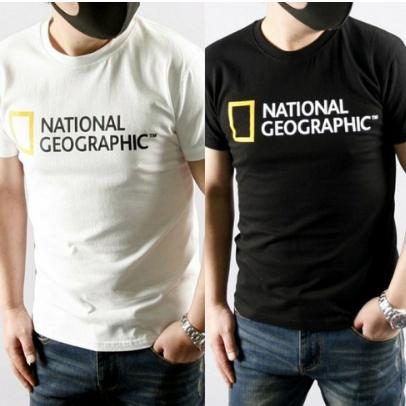 내셔널지오그래픽 빅로고 반팔티 반팔 티셔츠