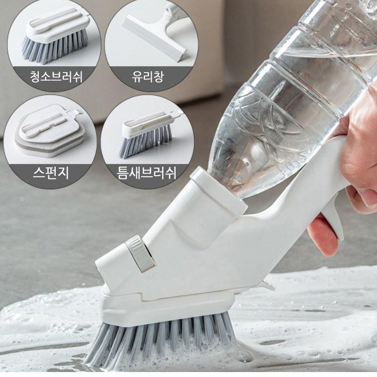청소브러쉬 +유리창+스펀지+틈새브러쉬를 하나에 세척솔 무료배송 청소용브러쉬 청소용품 욕실청소도구 화장실청소솔 특수브러쉬 스폰지롤러 손브러쉬, 1set