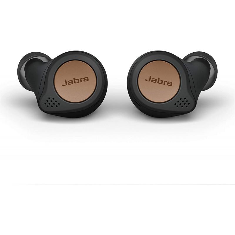 Jabra Elite Active 75t True Wireless Bluetooth 이어 버드 Copper Black – 달리기 및 스포츠 용 무선 이어 버드 충전 케이, 단일옵션, 단일옵션