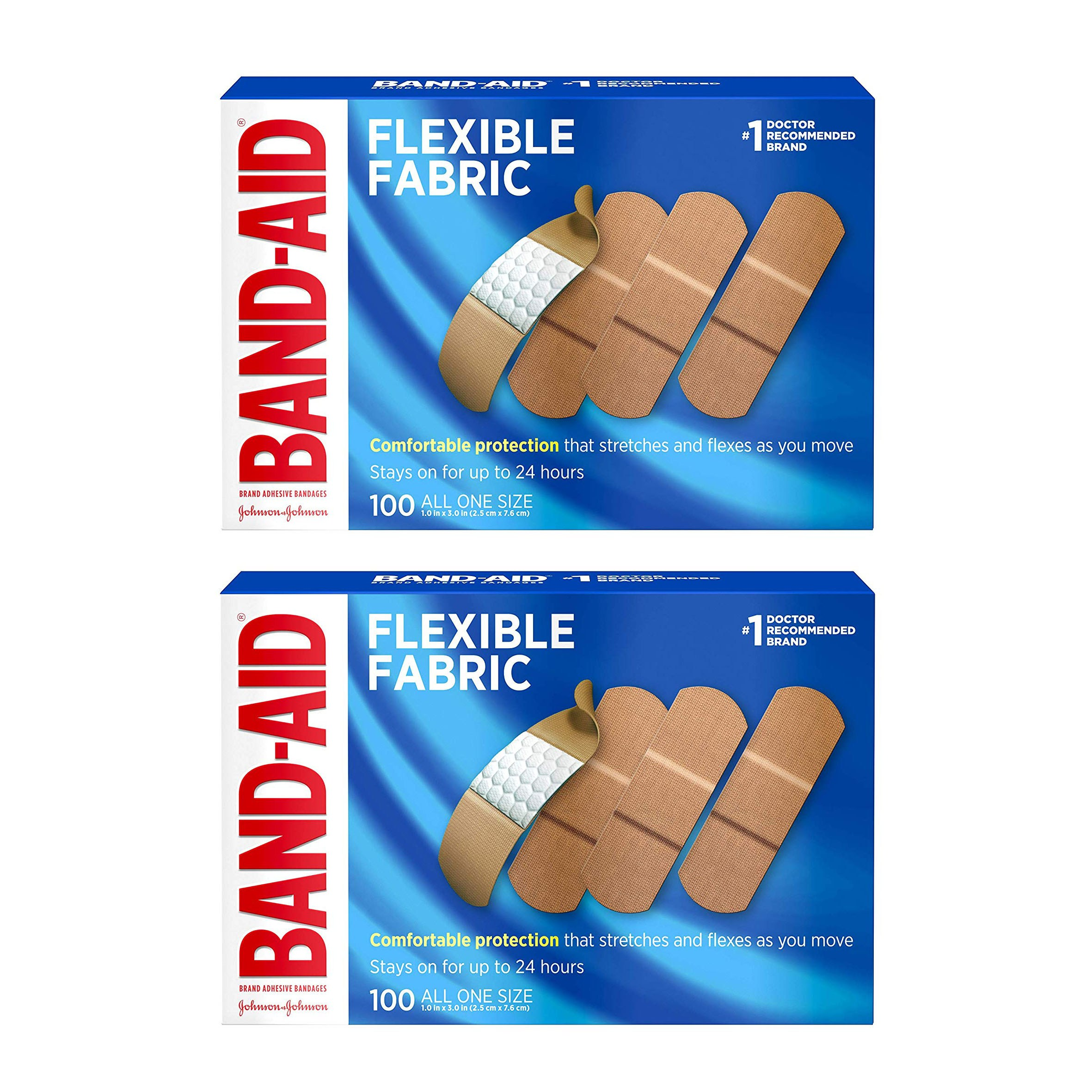 Band-Aid Brand Flexible Fabric 200count All One Size, 2팩 (POP 1592322009)