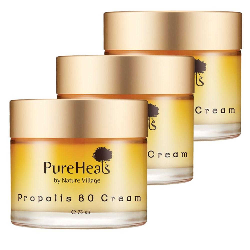 PureHeals 프로폴리스 80 크림 70ml 수분크림, 3개