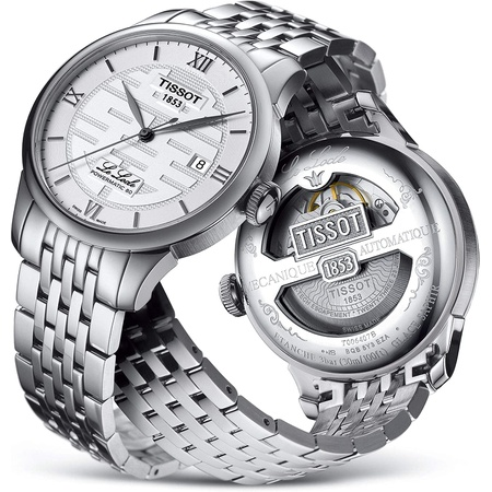 Tissot Le Locle Double Happiness Automatic Silver Dial Mens Watch T006.407.11.033.01 PROD80005945
