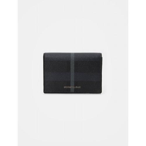 빈폴ACC [빈폴ACC] 빈폴 헤릿 카드지갑 - Black (BE02A3M175)