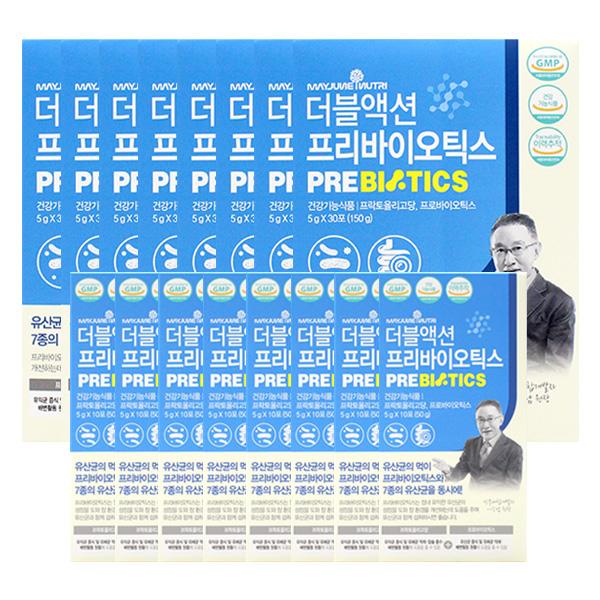 메이준뉴트리 더블액션 프리바이오틱스 30포X8+10포X8, 단품
