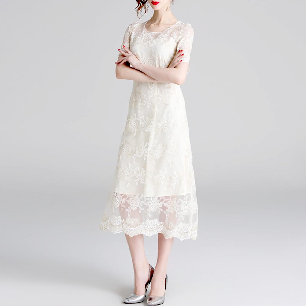 록스프링 골드 자수 빈티지 셀프웨딩드레스 만삭드레스 돌잔치 레이스 화이트 흰색 원피스