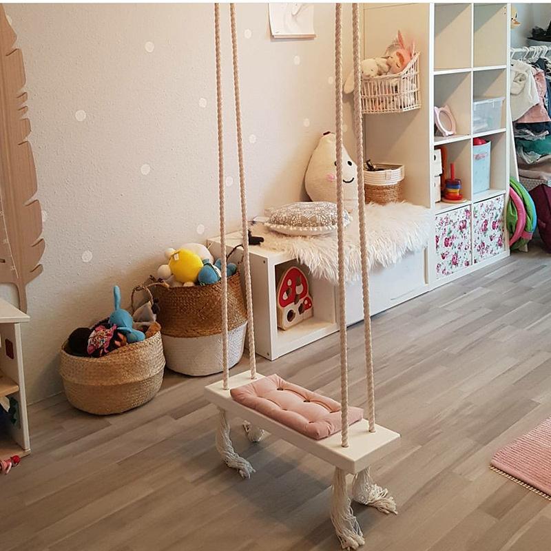 CUMEE 실내 그네 걸이 어린이 방 장식, A타입 핑크