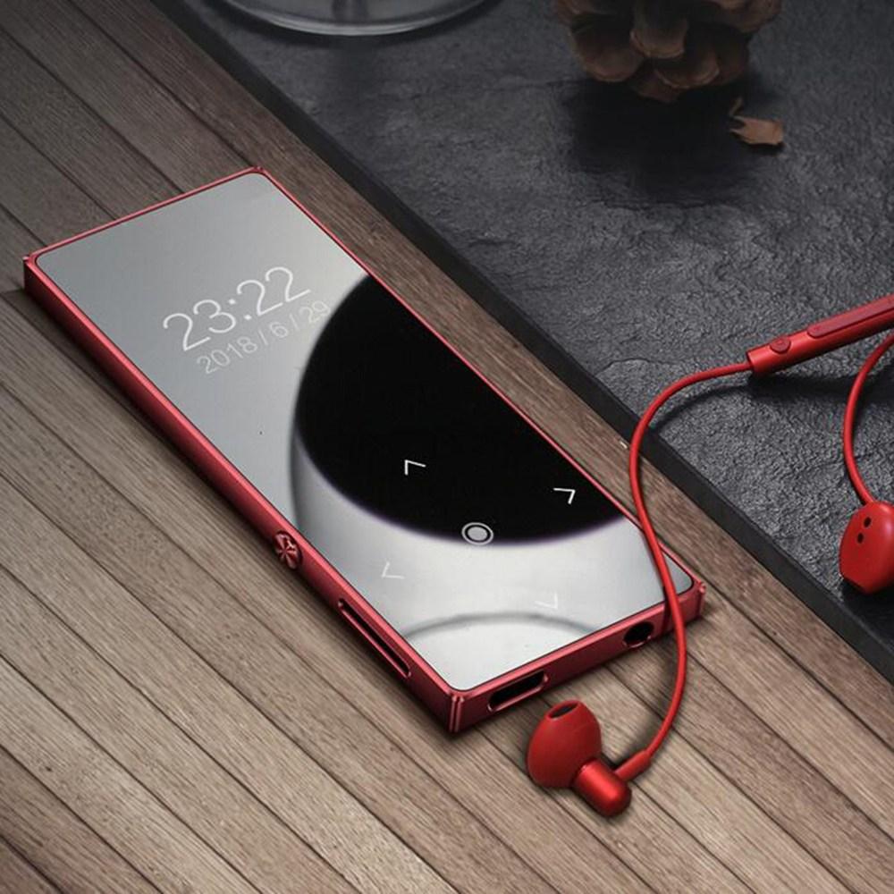휴대용 소형 mp3 음악 미니 플레이어 kirahosi 날씬한 초소형 69 ML 11 T1srktr, 레드 (16GB터치스 버전), 정부측표준