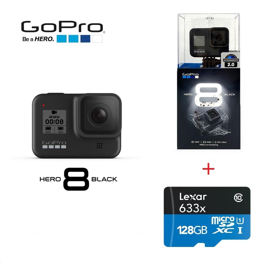 고프로 히어로8 블랙 +128GB메모리(4K지원) GoPro HERO8 액션캠, 고프로 히어로8 블랙 + 128GB