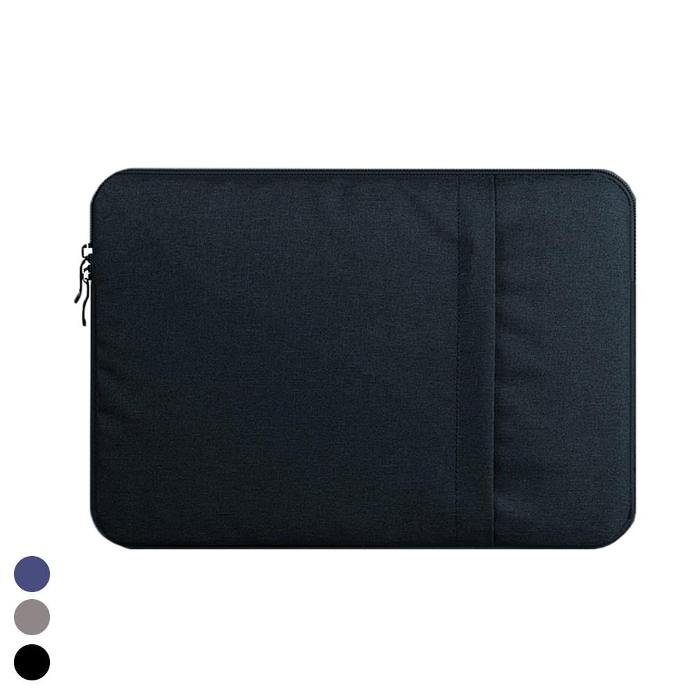 삼성 갤럭시북 S 다용도 수납 포켓 커버 파우치 가방, 블랙