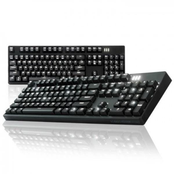 앱코 HACKER K660 단일 LED 키보드 블랙 (무접점 광축 클릭), 선택하세요