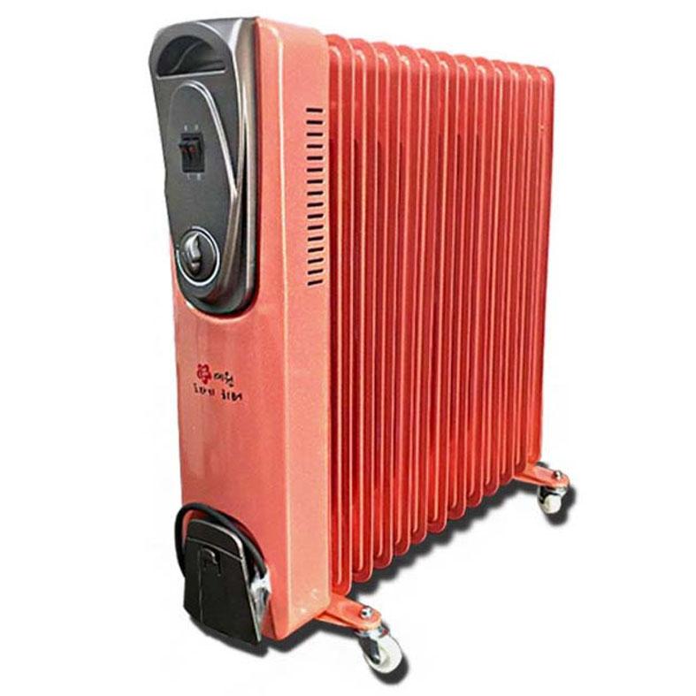 [세라믹 히터] 초절전 예원 전기 라디에이터 13핀 / 가정용 사무용 / 화장실 동파방지, 13핀 살구핑크(+금색 펄코팅)