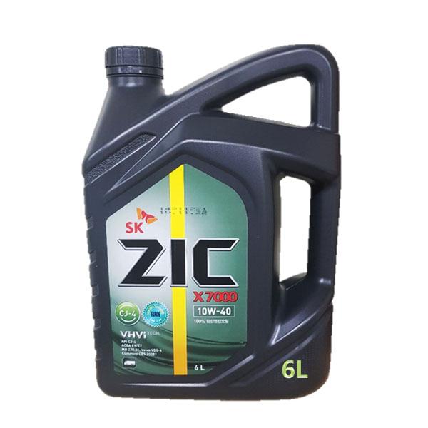 ZIC X7000 10W40 CJ4 6L 디젤 엔진오일, 1개, ◆ 지크 X7000 10W40_6L ◆