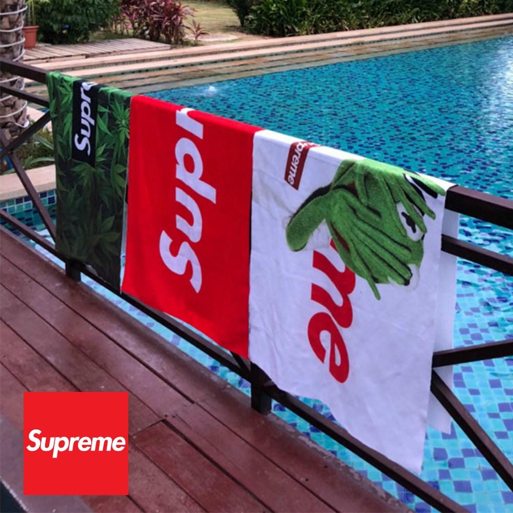 슈프림 비치타올 고급형 3종 대형수건 Supreme타월, 그린(Green), 1개