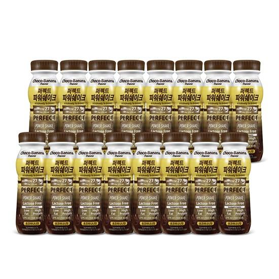 칼로바이 퍼펙트파워쉐이크 27.5g 헬스 단백질보충제 프로틴음료 초코바나나 16개입, 2set, 275ml