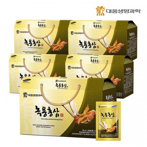 [대웅생명과학] 녹용홍삼 (70mlX30포) - 5세트