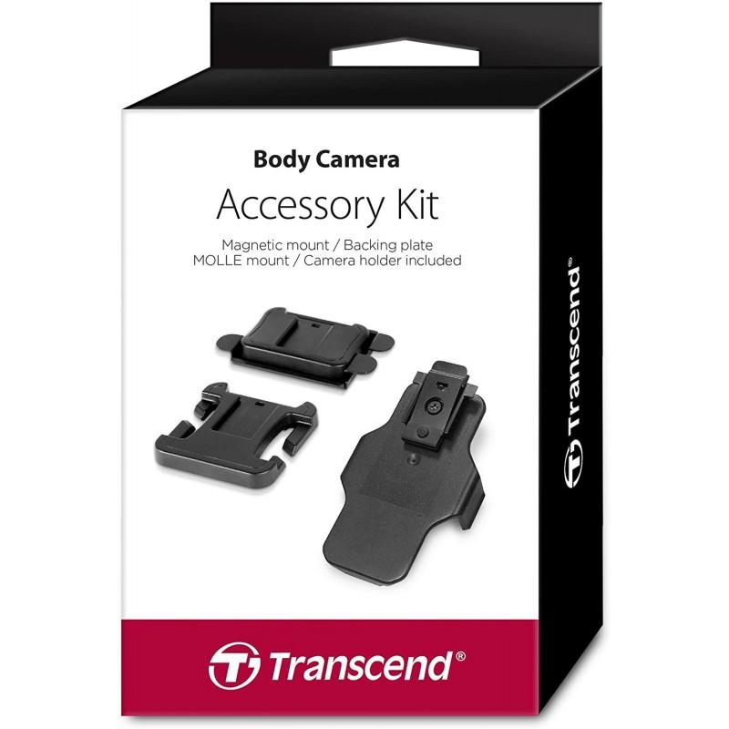 스페인직송 Transcend TS-DBK2 - TS-32GDPB20A 바디캠 카메라 액세서리 키트(자기 고정 클립 MOLLE 마운, 단일옵션-21-5878519030