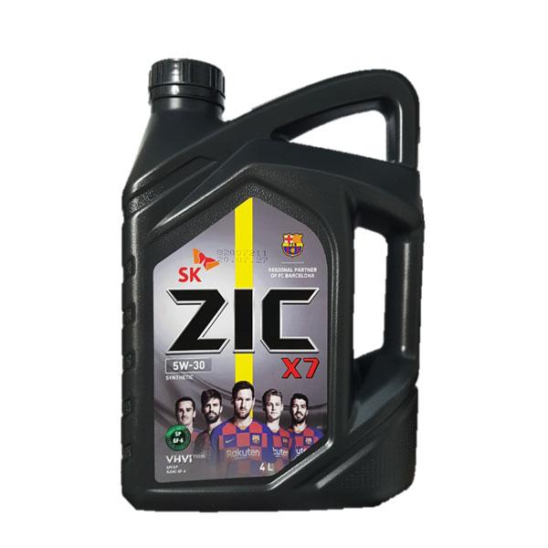 ZIC X7 5W30 SP 4L 가솔린 엔진오일, 1개, 지크 X7 5W30_4L (가솔린)