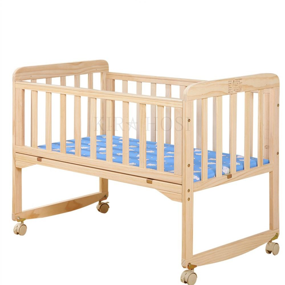 아기 침대 베이비 아기침대 다기능 29호 + 덧신 증정 BX19laem kirahosi 신생아 원목, 소 침대