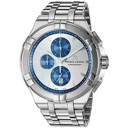 Maurice Lacroix Mens Aikon Swiss Quartz Watch with Stainless Steel Str
